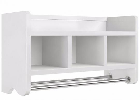 25 Quot Bath Storage Shelf Withtowel Rod